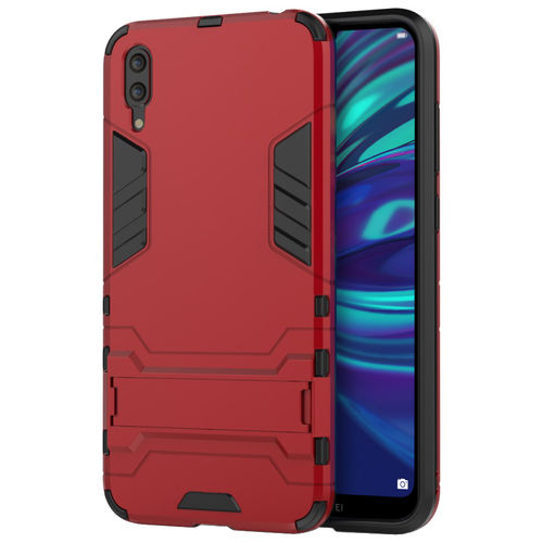 Slim Armour Tough Shockproof Case & Stand for Huawei Y7 Pro (2019) - Red